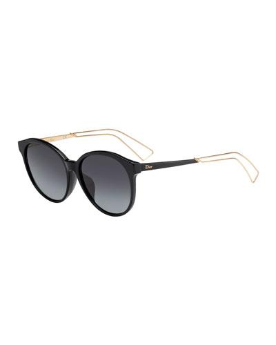 Confid1FS Round Acetate & Metal Sunglasses