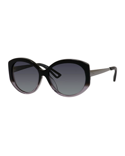 ExtaSFS Oval Acetate & Metal Sunglasses