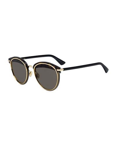 Offset1 Round Rimless Metal Sunglasses