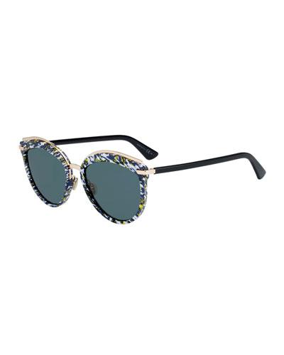 Offset2 Round Acetate & Metal Sunglasses