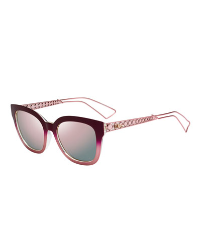 Diorama Caged Monochromatic Sunglasses