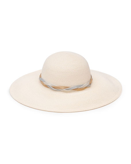 Eugenia Kim Honey Woven Sun Hat w/ Braided