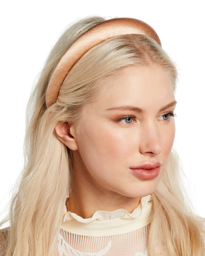 Tori Hammered Silk Satin Headband