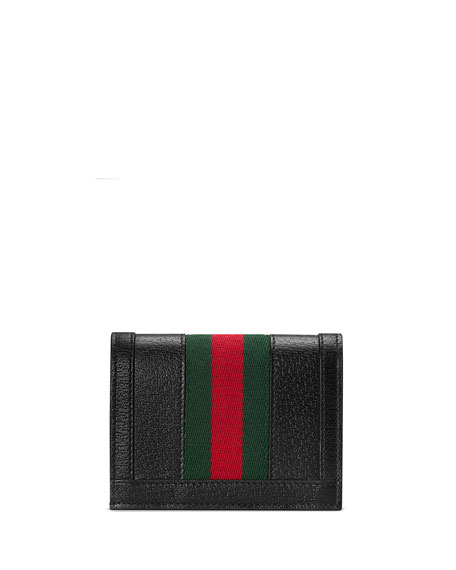 57bd15c4f428 Gucci Ophidia Leather Card Case