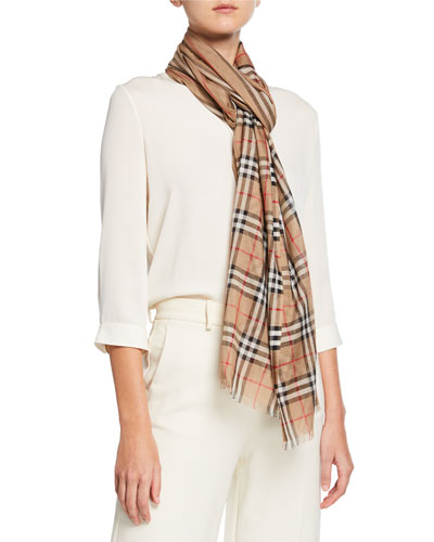 4f20f280d0 Icon Stripe & Vintage Check Gauze Scarf Quick Look. Burberry