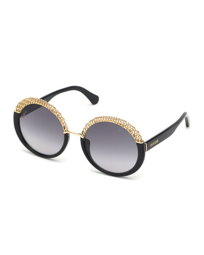 Round Metal/Injected Plastic Sunglasses