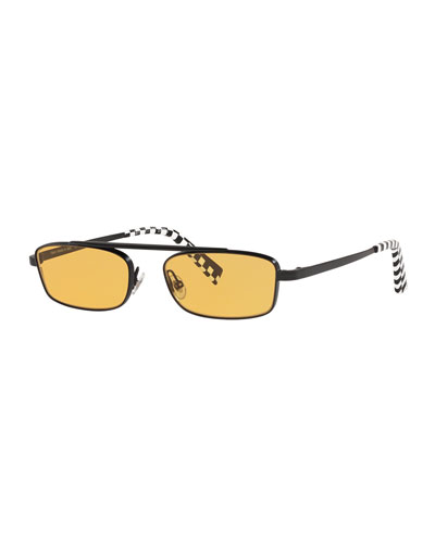 Callot Rectangle Metal Sunglasses