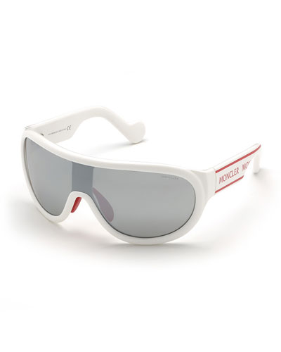 Shield Mirrored Acetate Sunglasses
