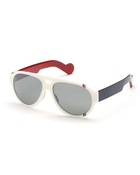 Tricolor Aviator Acetate Sunglasses