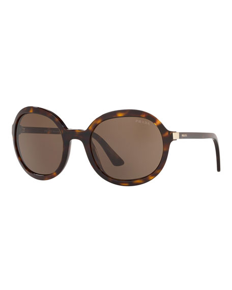 Oversized Round Acetate Sunglasses