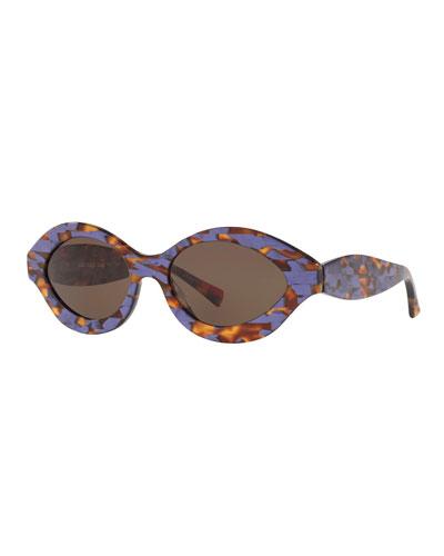 Acetate Oval Sunglasses