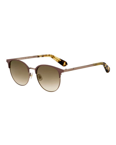 joelynns round stainless steel sunglasses