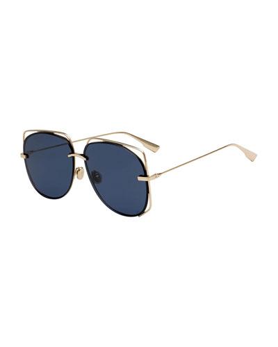 Stellair6 Square Metal Cutout Sunglasses