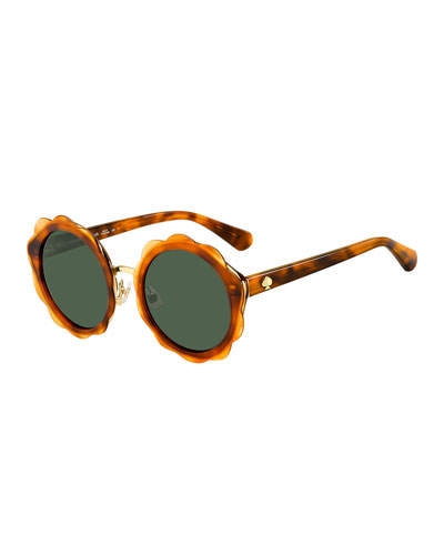 karries round flower sunglasses