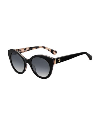 karleighs round acetate sunglasses