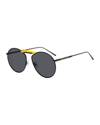 x Gentle Monster Round Metal Sunglasses