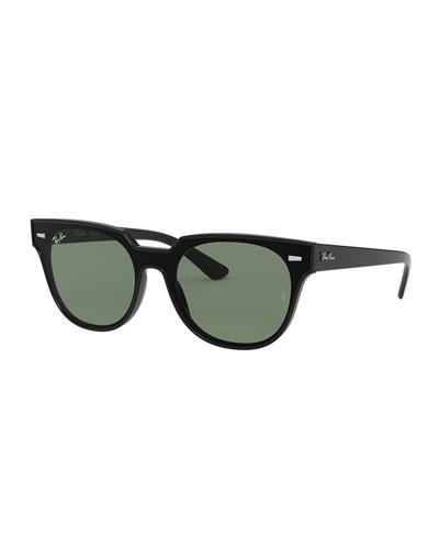 Square Monochromatic Sunglasses