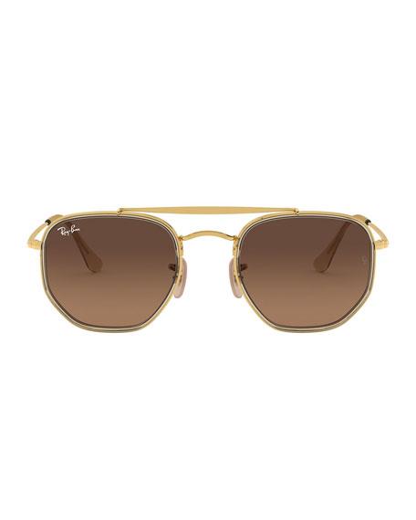 Rectangle Steel Gradient Sunglasses