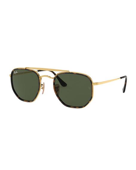 Rectangle Steel Monochromatic Sunglasses