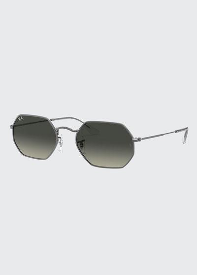 Octagonal Metal Sunglasses