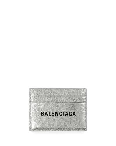 Everyday Metallic Leather Card Case