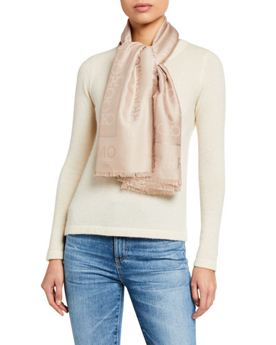 Gancio Silk/Wool Scarf