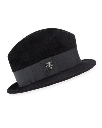 Wool Felt Velour Town Hat