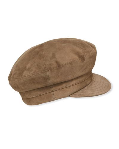 Suede Newsboy Cap