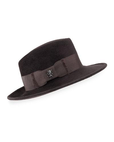 Velour Raider Trilby Hat