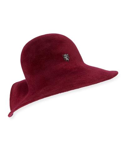 Structured Wave Cloche Hat
