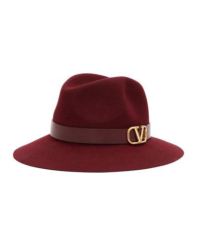 VLOGO Felt Fedora Hat