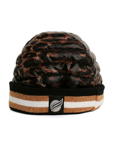 Downtown Crown Quilted Beanie Hat
