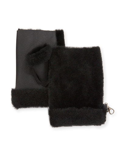 Mini Reversed Shearling Mittens