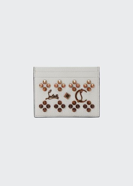 Kios Studded Leather Card Case