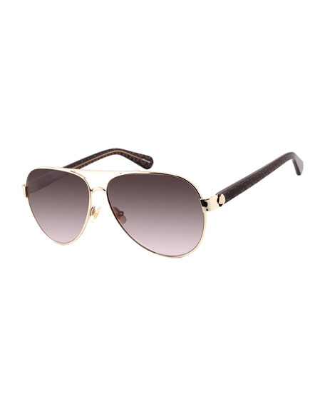 Image 1 of 1: genevas stainless steel aviator sunglasses