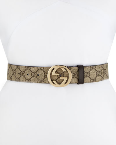 GG Supreme Canvas Belt w/ Interlocking G Buckle