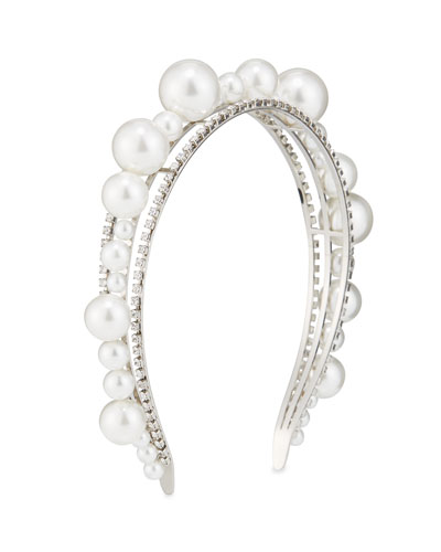 Ariana Pearly & Crystal Headband