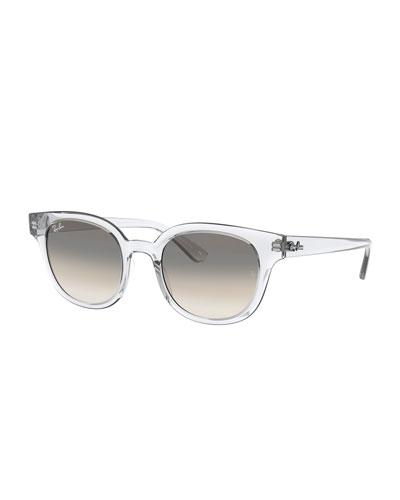 Square Transparent Propionate Sunglasses
