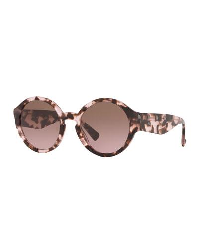 Round Rockstud Acetate Sunglasses