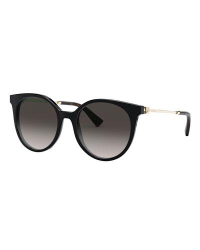 Round Acetate Gradient Sunglasses