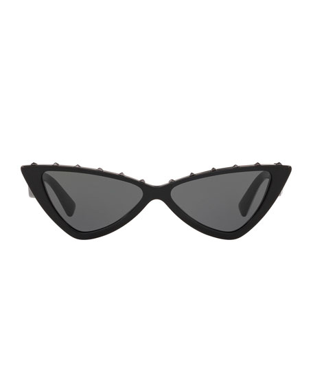 Cat-Eye Rockstud Acetate Sunglasses