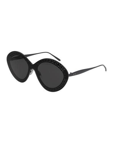 Round Shield Metal Sunglasses