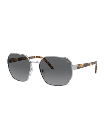 Square Metal Polarized Sunglasses