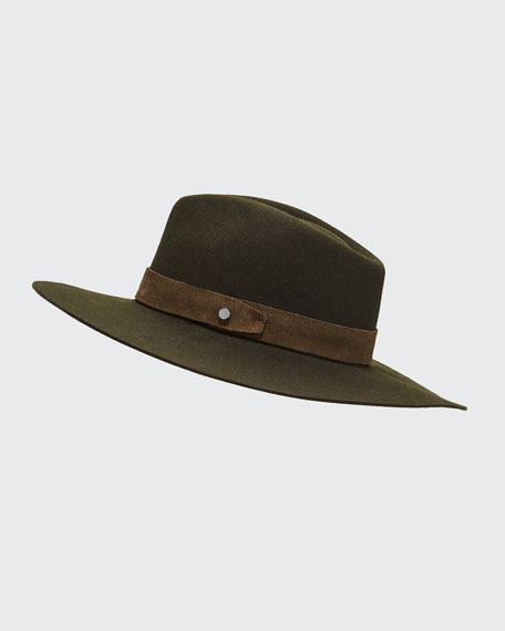 Image 1 of 1: Kacy Wool Fedora with Suede Band