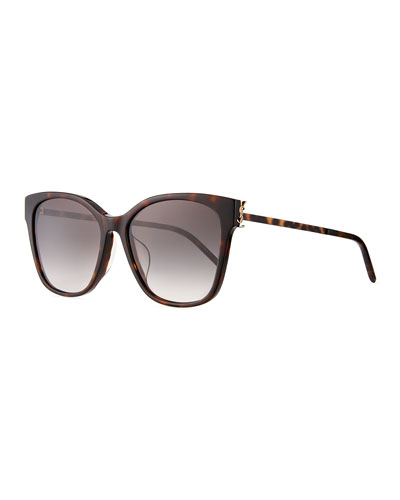 Square Acetate & Metal Sunglasses