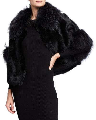 Short Fox & Rabbit Fur Jacket
