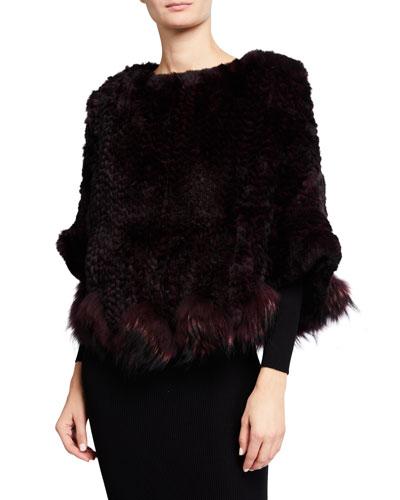 Fox & Rabbit Fur Poncho