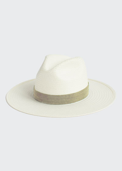 Marcelle Straw Fedora Hat