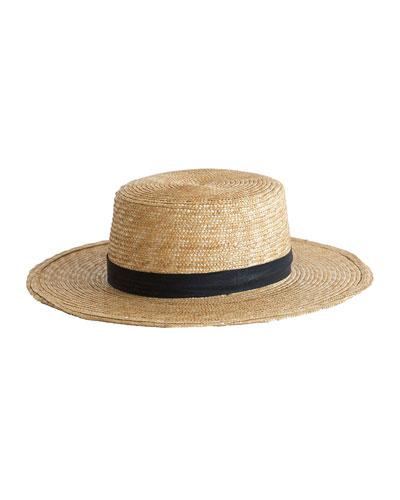 Klint Straw Boater Hat