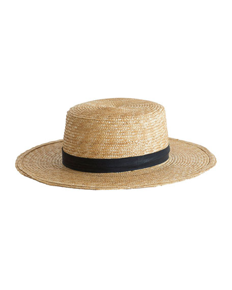 Image 1 of 1: Klint Straw Boater Hat